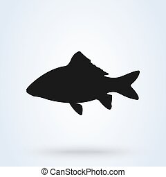 Fish icon vector. isolated on white background