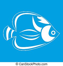 Fish icon white