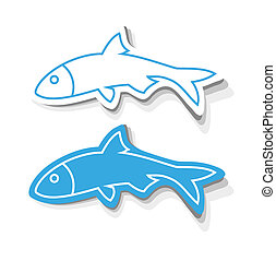 fish, icone