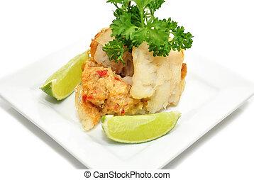 fish, imbottito, antipasto