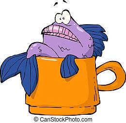 Fish in a mug