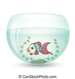fish in cartoon style