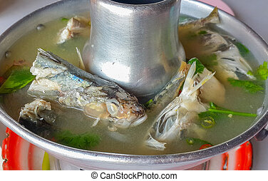 fish in hot, sour and spicy soup
