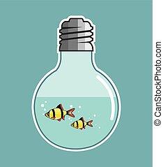 Fish Inside the Light Bulb