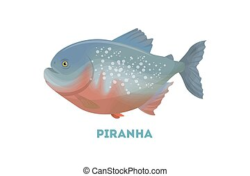 fish., isolato, piranha