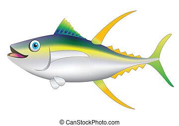 fish, jaune