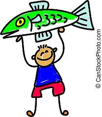 fish, kölyök