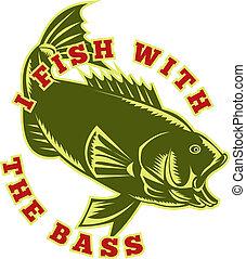 fish, largemouth 低音, 跳躍