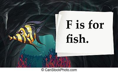 fish, lettre f