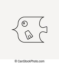 fish line icon