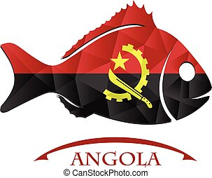 fish logo made from the flag of Angola.