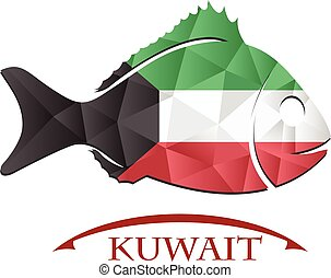 fish logo made from the flag of Kuwait.
