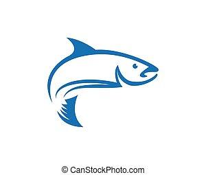 Fish logo template icon
