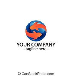 Fish logo vector. Vector Illustration on white background