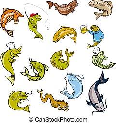 fish-mascot-CARTOON-SET