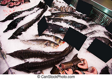 Pile of fish on ice