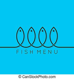 fish menu concept design background