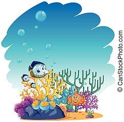 fish, mer, natation