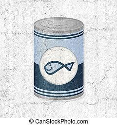 fish metal can