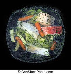 fish, minestra