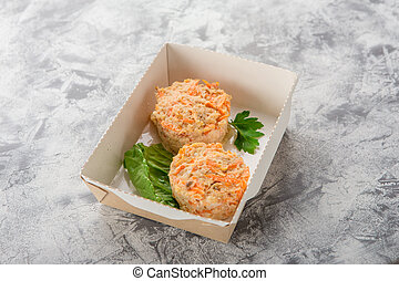 Fish Muffins with salmon