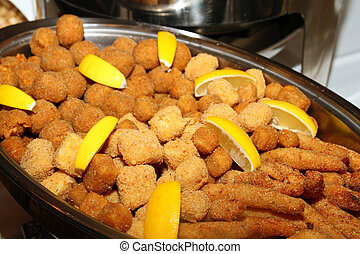 fish nuggets isolated