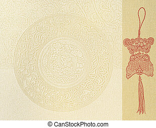 fish of luck on paper background. Feng shui symbol