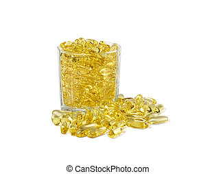 fish oil in the glass