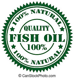 Rubber stamp with text Fish Oil, vector illustration
