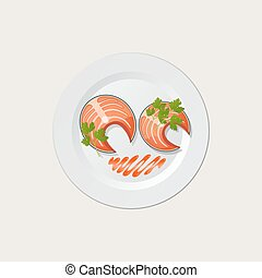 fish on a white plate