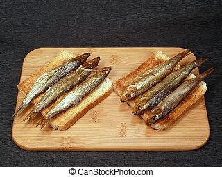 fish on toast bread