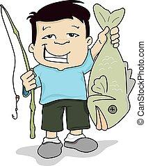 fish, pêcheur
