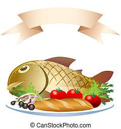fish, pain, préparé