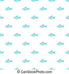 Fish pattern, cartoon style