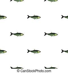 Fish pattern flat