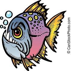 fish, piranha, pericolo