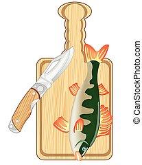 fish, planche