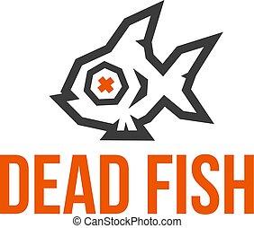 fish, poly, 2, studio, basso, logo., morto, colors.
