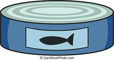 Fish preserves icon, cartoon style