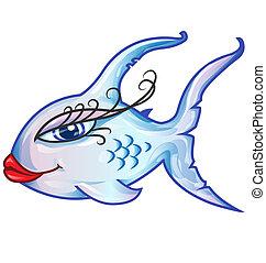 fish, rysunek, czuciowy