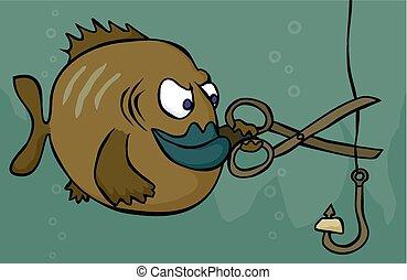 Fish sabotage - A devious and daring fish takes retribution...