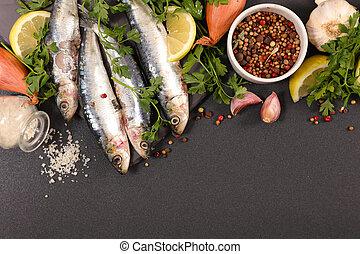 fish, sardine, épice