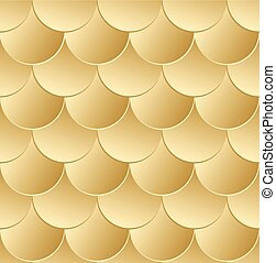 Fish scale golden seamless pattern