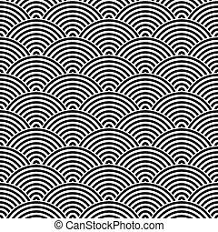 Fish scale seamless pattern background.
