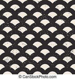Fish scale seamless pattern
