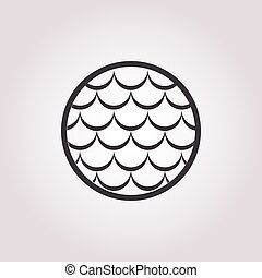 fish scales icon on white background
