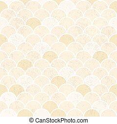 Fish Scales Pattern. Seamless Vintage Background. Grunge Textured Vector