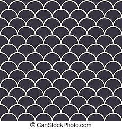 Fish Scales Seamless Pattern