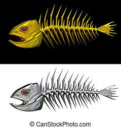 fish, scheletro