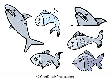 Fish Set - Vector Cartoon